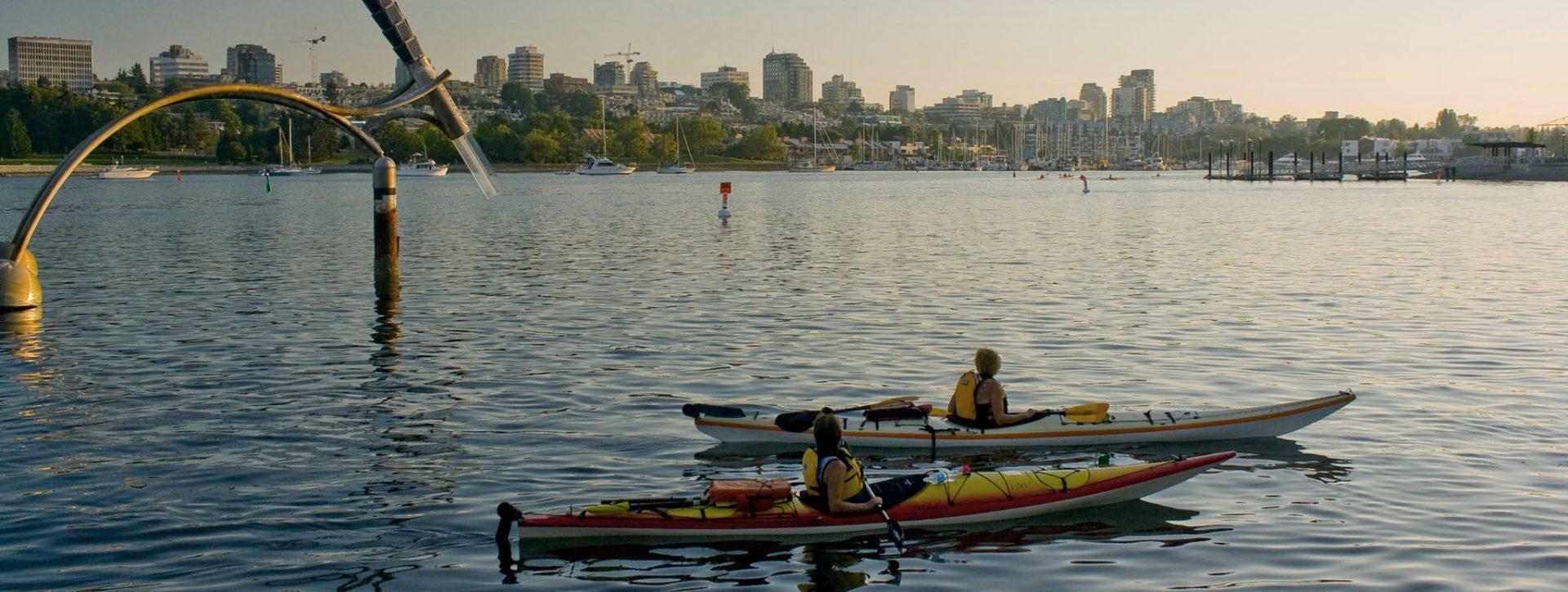 People kayaking in Vancouver